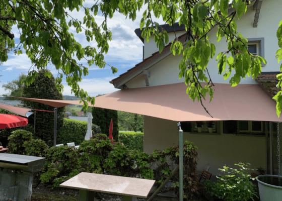 Sonnensegel in Haus und Garten