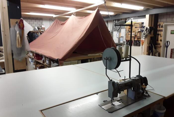 Zelt in Reparatur